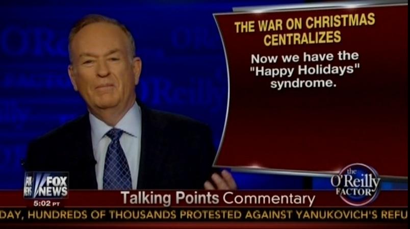 bill oreilly warns war on christmas is upon us video - The War On Christmas