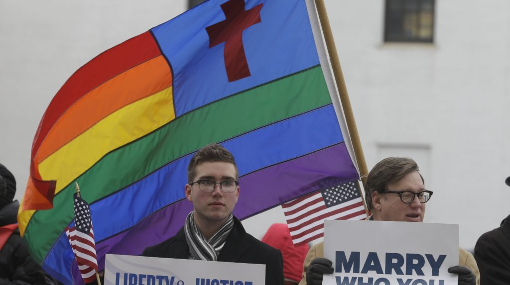 church sued over gay marriage