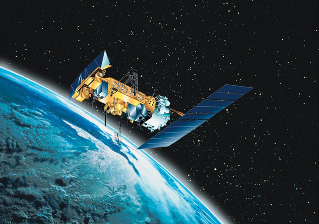 how many man made satellites are currently orbiting earth talking