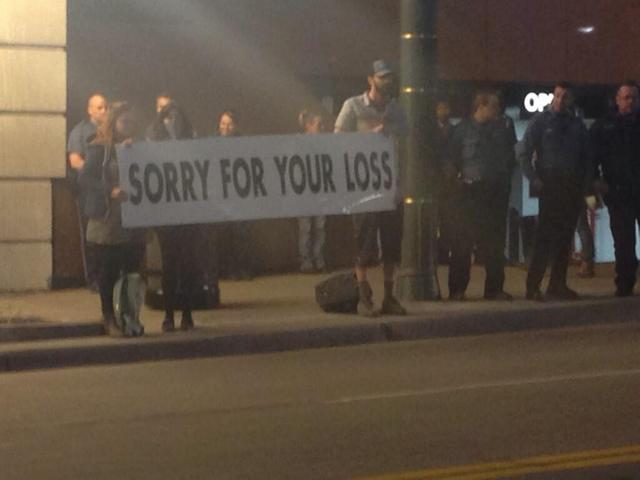 Westboro Baptist Church Protest Met With 'Sorry For Your Loss' Sign