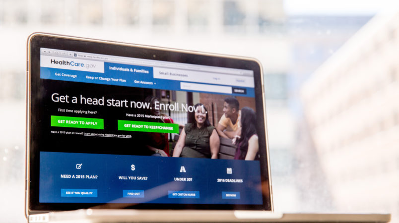 FILE - In this Oct. 6, 2015, file photo, the HealthCare.gov website, where people can buy health insurance, is displayed on a laptop screen in Washington. The Blue Cross Blue Shield Association said in a report released Wednesday, March 30, 2016, health insurers gained a sicker, more expensive patient population through the Affordable Care Act's coverage expansion. Its report offers an early glimpse at customers who have gained coverage in the past couple years. (AP Photo/Andrew Harnik, File)