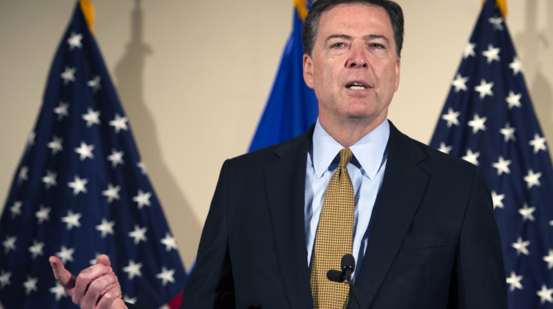 FBI Director James Comey makes a statement at FBI Headquarters in Washington, Tuesday, July 5, 2016. (AP Photo/Cliff Owen)