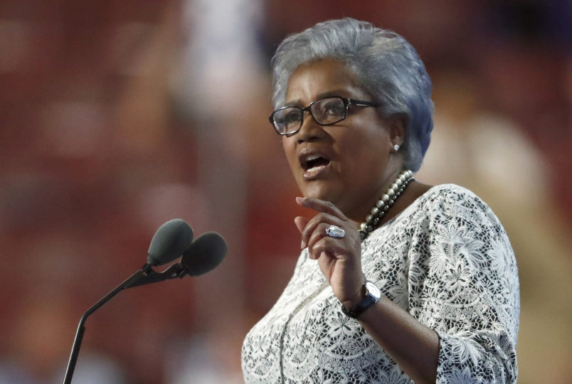 Democratic National Committee Vice Chair Donna Brazile speaks during the second day of the Democratic National Convention in Philadelphia , Tuesday, July 26, 2016. (AP Photo/Paul Sancya)