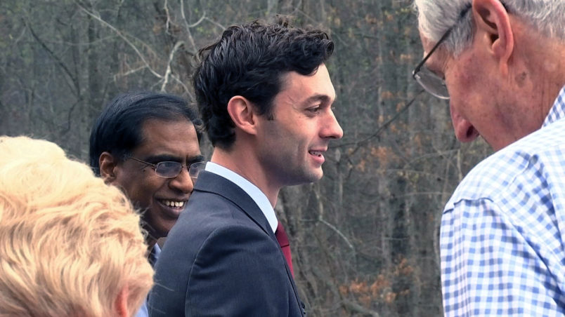 /// CAPTION:Democratic congressional candidate Jon Ossoff is seen with supporters outside of the East Roswell Branch Library in Roswell, Ga., on the first day of early voting, Monday, March 27, 2017. The postelection dominoes of President Donald Trump's administration picks and a California Democratic appointment have created five openings in the U.S. House of Representatives, including the Republican-leaning 6th Congressional District outside of Atlanta. Democrats believe Ossoff, 30, has a shot based on Trump's underperformance and the candidate's early fundraising success. (AP Photo/Alex Sanz)[unknown.png][unknown_1.png]ALEX SANZASSOCIATED PRESS TELEVISION NEWSASANZ@AP.ORG[cid:44442C73-57D8-4C6F-AB06-7A002D37CBF0] [cid:C13A27B9-4FD1-47CB-9988-5E2CFDF955F4] 101 MARIETTA STREET NWATLANTA, GA 30303(404) 353-5439ASSOCIATED PRESS TELEVISION NEWS IS THE INTERNATIONAL TELEVISION DIVISION OF THE ASSOCIATED PRESS, THE WORLD'S OLDEST AND LARGEST NEWSGATHERING ORGANIZATION. VIDEO CAPTURED BY THE ASSOCIATED PRESS CAN BE SEEN BY OVER HALF OF THE WORLD'S POPULATION ON ANY GIVEN DAY.CLICK HERE TO SEND NEWS TIPS, DOCUMENTS OR OTHER FILES SECURELY AND CONFIDENTIALLY TO AP.