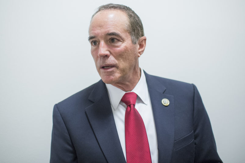 UNITED STATES - APRIL 26: Rep. Chris Collins, R-N.Y., leaves a meeting of the House Republican Conference in the Capitol on April 26, 2017. (Photo By Tom Williams/CQ Roll Call)