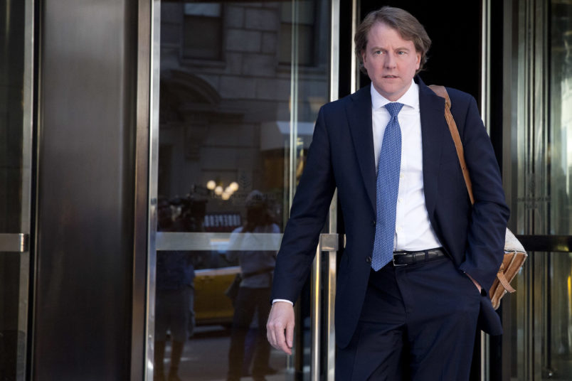 White House counsel will leave job in fall, Trump says