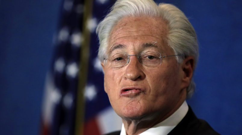 Marc Kasowitz personal attorney of President Donald Trump  makes a statement following the congressional testimony of former FBI Director James Comey at the National Press Club in Washington, Thursday, June 8, 2017.    (AP Photo/Manuel Balce Ceneta)