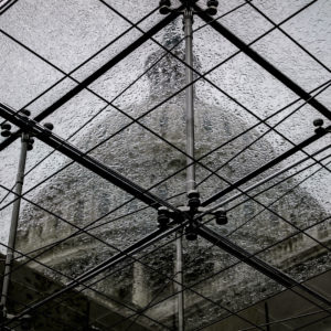 The Capitol Dome is seen through a rain-covered skylight in the Capitol Visitors Center, in Washington, Friday, June 23, 2017. (AP Photo/J. Scott Applewhite)