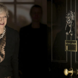 Prime Minister Theresa May leaves to greets Australian Prime Minister Malcolm Turnbull at 10 Downing Street in London. PRESS ASSOCIATION Photo. Picture date: Monday July 10, 2017. See PA story POLITICS Australia. Photo credit should read: Stefan Rousseau/PA Wire