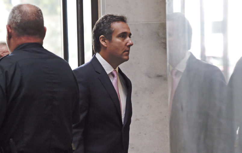 Michael Cohen, President Donald Trump's personal attorney, arrives on Capitol Hill in Washington, Tuesday, Sept. 19, 2017. Cohen is schedule to testify before the Senate Intelligence Committee in a closed session. (AP Photo/Susan Walsh)