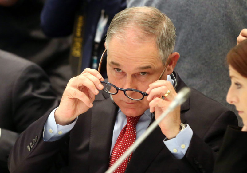 Scott Pruitt, administrator of the Environmental Protection Agency of United States (EPA), during the G7 Ministerial Meeting on Environment ongioing in Bologna, Italy, 11 June 2017. The meeting runs until tomorrow, 12 June. ANSA/ GIORGIO BENVENUTI