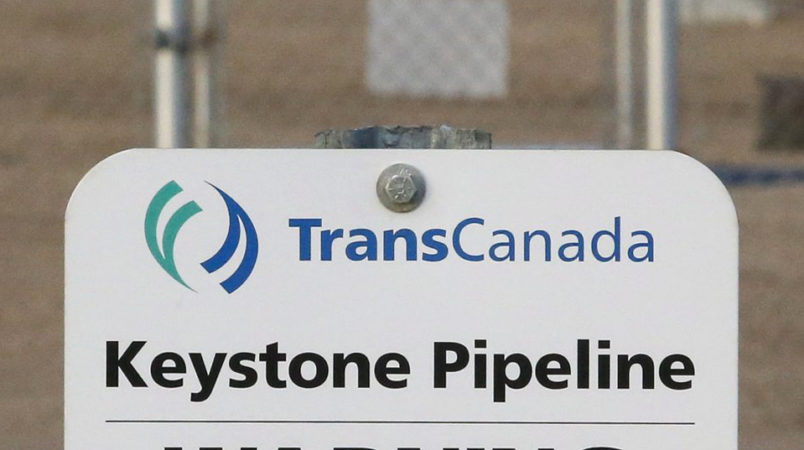 TransCanada's Keystone pipeline facilities are seen in Hardisty, Alberta, Canada, on Friday, Nov. 6, 2015.  Following the Obama administration's rejection of the Keystone XL pipeline, the oil industry faces the tricky task of making sure the crude oil targeted for the pipeline still gets where it needs to go.  (Jeff McIntosh/The Canadian Press via AP) MANDATORY CREDIT