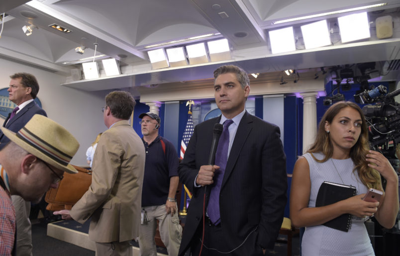 Donald Trump calls CNN's Jim Acosta 'very unprofessional'