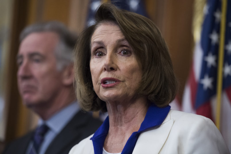 UNITED STATES - NOVEMBER 03: House Minority Leader Nancy Pelosi, D-Calif., and Rep. Richard Neal, D-Mass., conduct a news conference in the Capitol to voice opposition to the Republicans' tax reform plan on November 3, 2017. Photo By Tom Williams/CQ Roll Call)