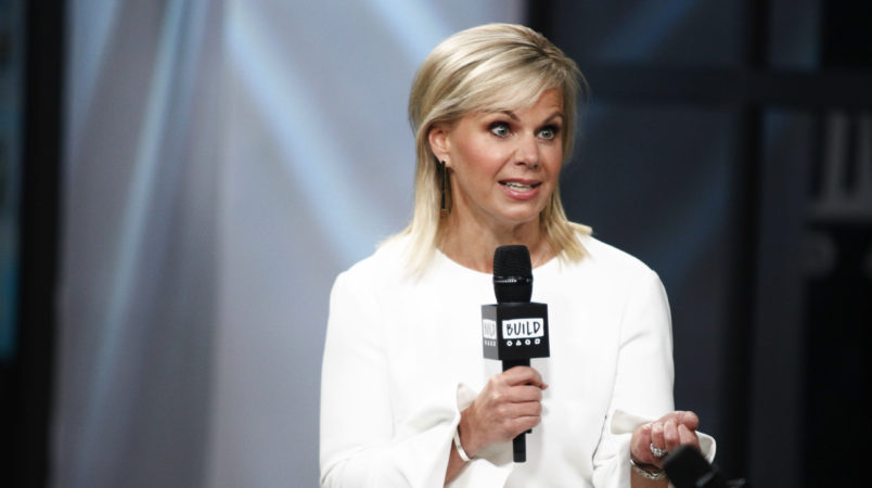 """Gretchen Carlson participates in the BUILD Speaker Series to discuss her book """"Be Fierce: Stop Harassment and Take Back Your Power"""" at AOL Studios on Tuesday, Oct. 17, 2017, in New York. (Photo by Andy Kropa/Invision/AP)"""