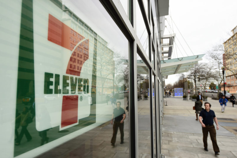 WASHINGTON, DC - MARCH 11: A 7-Eleven is seen at the corner of L St. NW and Vermont Ave. NW on Wednesday March 11, 2015 in Washington, DC. (Photo by Matt McClain/ The Washington Post)