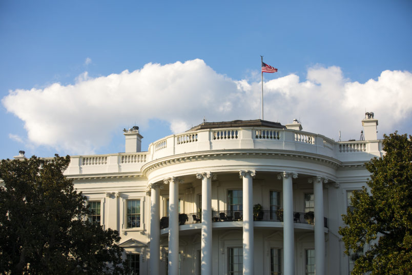 WASHINGTON, DC - OCTOBER 03: The south facade of the White House,  including the Truman Balcony,   October 3, 2016 in Washington, DC.   (Photo by Brooks Kraft/ Getty Images)