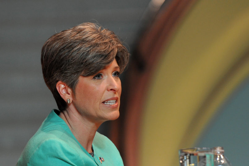 Joni Ernst Says Fellow Iowan Steve King's Words Are 'Offensive And Racist'