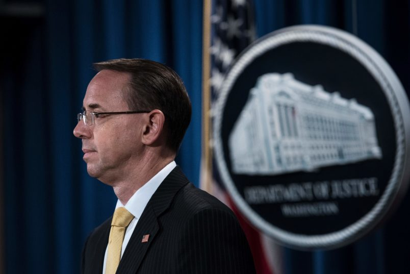 Deputy Attorney General Rosenstein flying with Trump to Florida