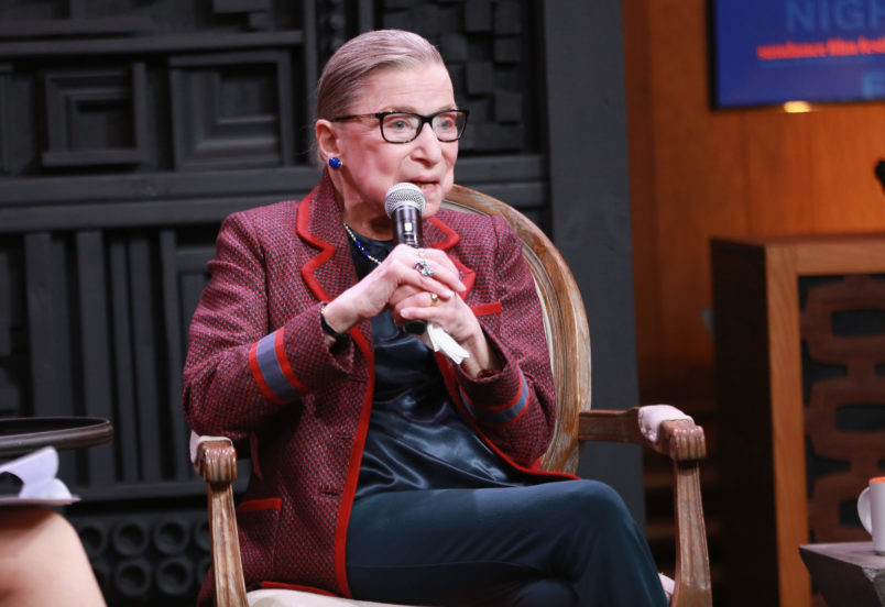 attends the Cinema Cafe with Justice Ruth Bader Ginsburg and Nina Totenberg during the 2018 Sundance Film Festival at Filmmaker Lodge on January 21, 2018 in Park City, Utah.