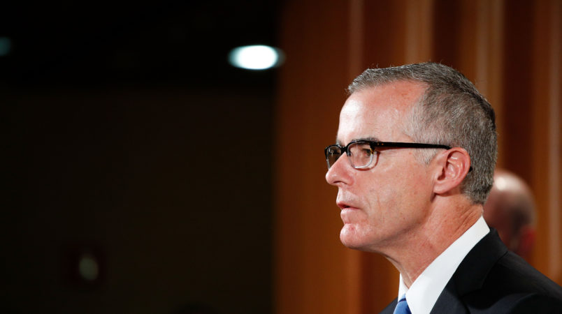 """WASHINGTON, July 20, 2017 -- Andrew McCabe, U.S. acting director of the Federal Bureau of Investigation, attends a press conference at the U.S. Justice Department in Washington D.C., the United States, on July 20, 2017. The world's largest """"dark market"""" on the Internet, AlphaBay, has been shut down, the U.S. Justice Department (DOJ) said Thursday. (Xinhua/Ting Shen)"""