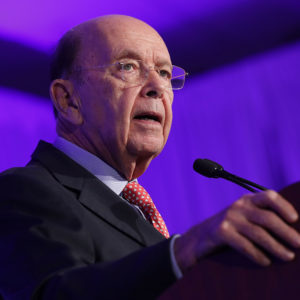 U.S. Commerce Secretary Wilbur Ross and Transportation Secretary Elaine Chao deliver keynote remarks during the U.S.-Japan Council's annual conference at the J.W. Marriott November 13, 2017 in Washington, DC.