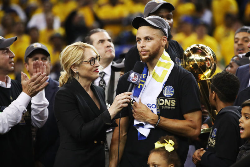 in Game 5 of the 2017 NBA Finals at ORACLE Arena on June 12, 2017 in Oakland, California. NOTE TO USER: User expressly acknowledges and agrees that, by downloading and or using this photograph, User is consenting to the terms and conditions of the Getty Images License Agreement.