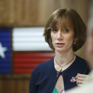 HOUSTON, TX -- MAY 22, 2017: Laura Moser picking up her campaign materials at a print shop in Houston, Monday May 22, 2017.  Moser is returning to Houston from Washington where her husband worked for the Obama Whitehouse, and is starting her effort to run for the 7th Congressional District in Texas currently occupied by Republican John Culberson. (Photo by Michael Stravato/For the Washington Post)