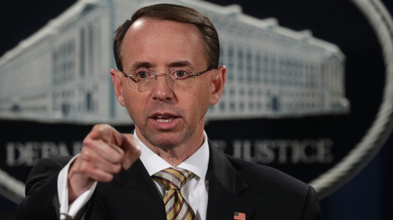 Rosenstein: Trump 'fully aware' of Russian indictments