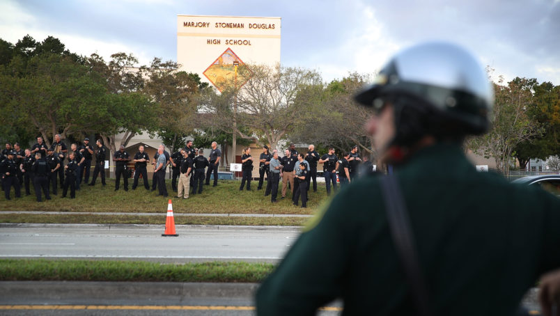 on February 28, 2018 in Parkland, Florida.