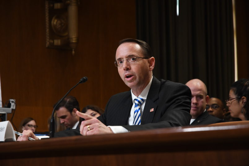 US Deputy Attorney General Rod Rosenstein denies he proposed secretly taping Trump