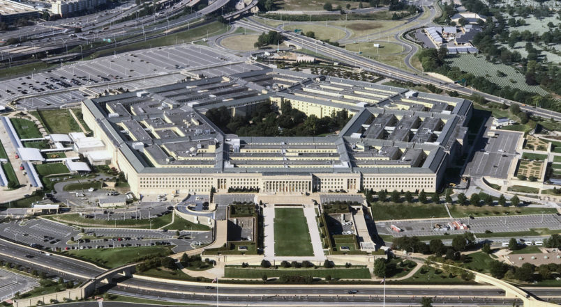 UNITED STATES- SEPTEMBER 24 Aerial view of the Pentagon building