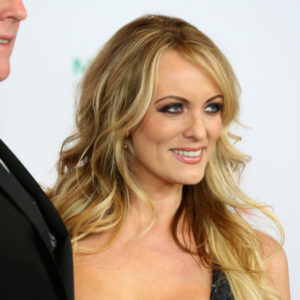 LAS VEGAS, NV - JANUARY 27:  Adult film actress/director Stormy Daniels attends the 2018 Adult Video News Awards at the Hard Rock Hotel & Casino on January 27, 2018 in Las Vegas, Nevada.  (Photo by Gabe Ginsberg/Getty Images)