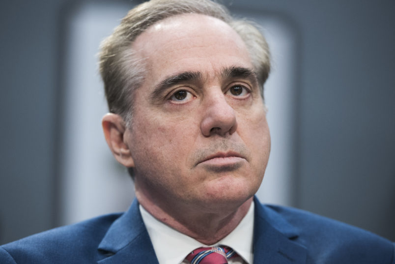 UNITED STATES - MARCH 15: David Shulkin, Secretary of Veterans Affairs, prepares for a House Appropriations Military Construction, Veterans Affairs and Related Agencies subcommittee hearing in Rayburn Building on the department's FY2019 budget on March 15, 2018. (Photo By Tom Williams/CQ Roll Call)