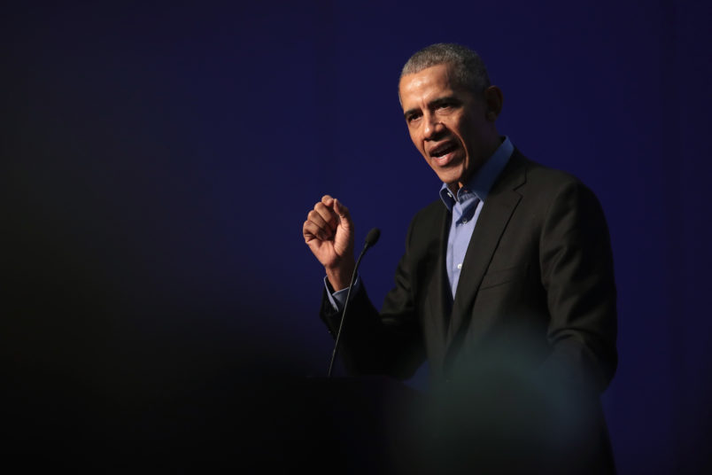 Obama urges voters to mobilise against the 'politics of fear'
