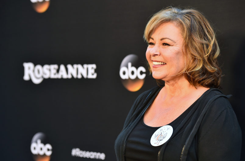 "attends the premiere of ABC's ""Roseanne"" at Walt Disney Studio Lot on March 23, 2018 in Burbank, California."