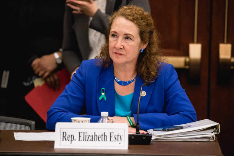 Rep. Elizabeth Esty (CT 5th District), speaks at a forum to examine evidence-based violence prevention and school safety measures. The forum was held on Capitol Hill in Washington, D.C., on Tuesday, March 20, 2018. (Photo by Cheriss May) (Photo by Cheriss May/NurPhoto)