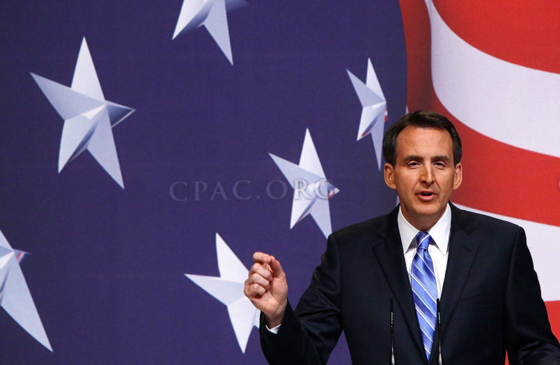 WASHINGTON - FEBRUARY 19:  Gov. Tim Pawlenty (R-MN) addresses supporters at the Conservative Political Action Conference annual meeting February 19, 2010 in Washington, DC. Conservative leaders have seized on U.S. President Obama's declining approval ratings as an opportunity to advance their conservative agenda during the group's annual meeting.  (Photo by Win McNamee/Getty Images)