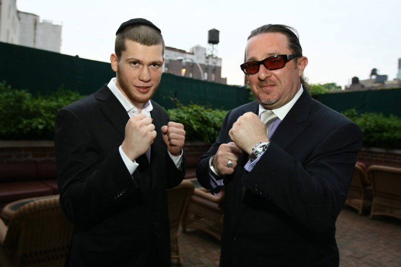 NEW YORK - JUNE 3:  Undefeated junior welterweight boxer Dmitry Salita (L) and honoree businessman Evgeny A. Freidman attend the UJA-Federation of New York's Russian Leadership Division's Charity Ball at The Bowery Hotel June 3, 2009 in New York City.  (Photo by Neilson Barnard/Getty Images)