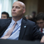 UNITED STATES - APRIL 23: Marc Short, White House legislative affairs director, attends a Senate Foreign Relations committee markup in Dirksen Building on the nomination of Mike Pompeo to be secretary of state on April 23, 2018.  (Photo By Tom Williams/CQ Roll Call)