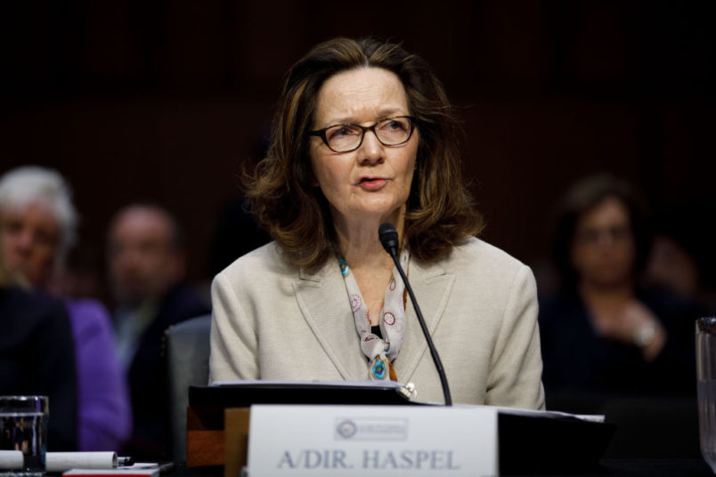 WASHINGTON, May 9, 2018 -- Gina Haspel, nominee for Director of Central Intelligence Agency, testifies at her confirmation hearing before the Senate Intelligence Committee on Capitol Hill in Washington D.C., the United States, on May 9, 2018. (Xinhua/Ting Shen)