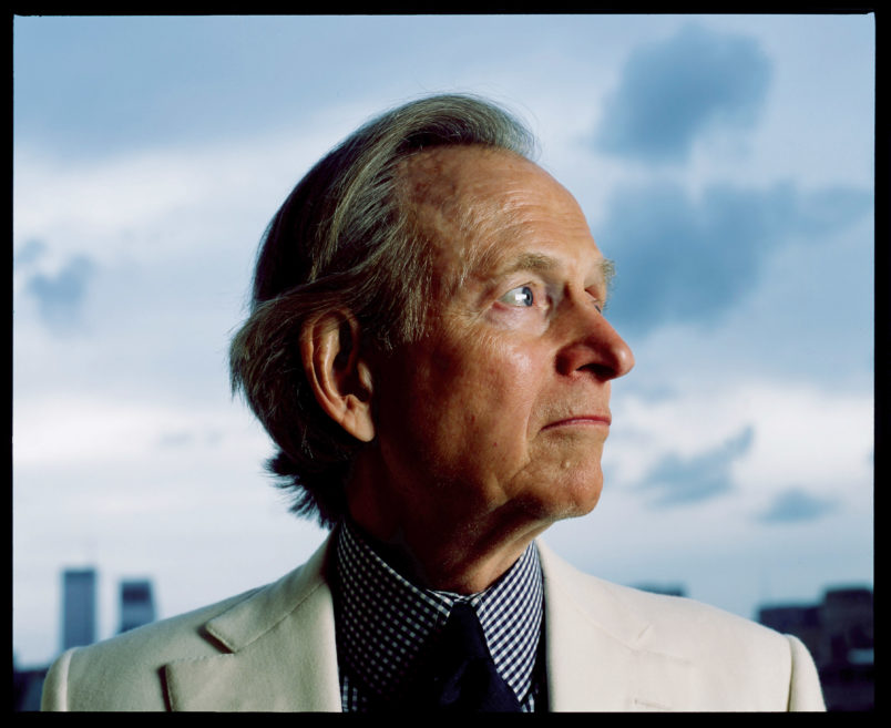 Author Tom Wolfe in his Upper East-Side apartment at 21 E79th St, New York City on October 21 2004