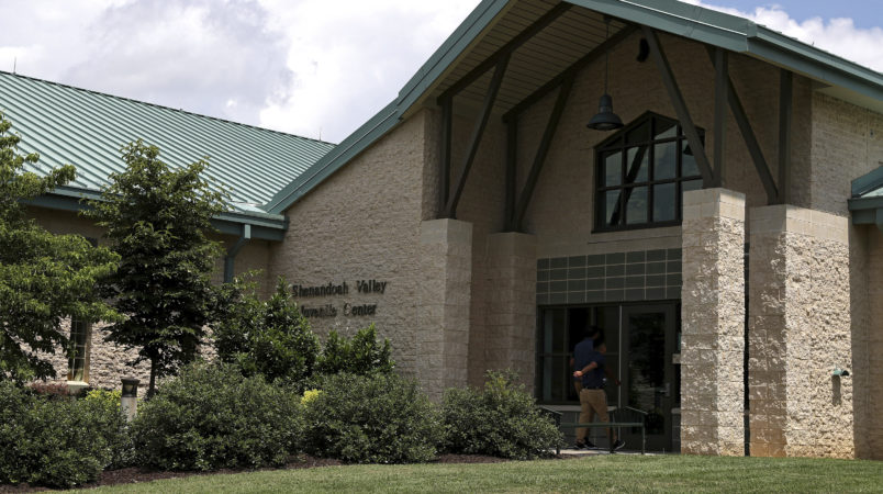 ZACK WAJSGRAS/THE DAILY PROGRESSThe Shenandoah Valley Juvenile Center is shown Wednesday, June 20, 2018 in Staunton, Va. The U.S. government is using the juvenile detention center in western Virginia to house dozens of young immigrants who crossed the border illegally. (AP Photo/Zachary Wajsgras)