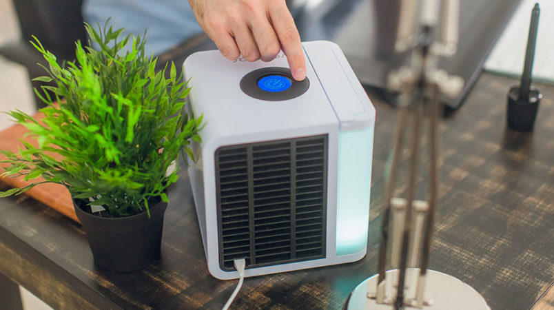 EvaLight's EV-1000 personal air conditioner keeps you comfortable in any room without driving up your power bill.