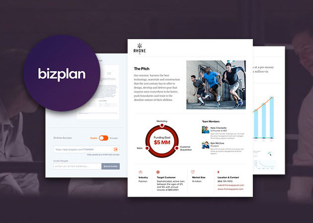 Bizplan's software helps you create a pitch for your idea, set goals, track your progress and more.