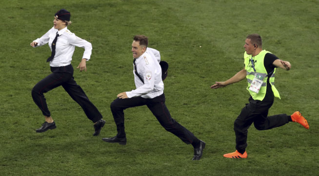 talkingpointsmemo.com - Pussy Riot Upstages Putin With Protest That Halts World Cup