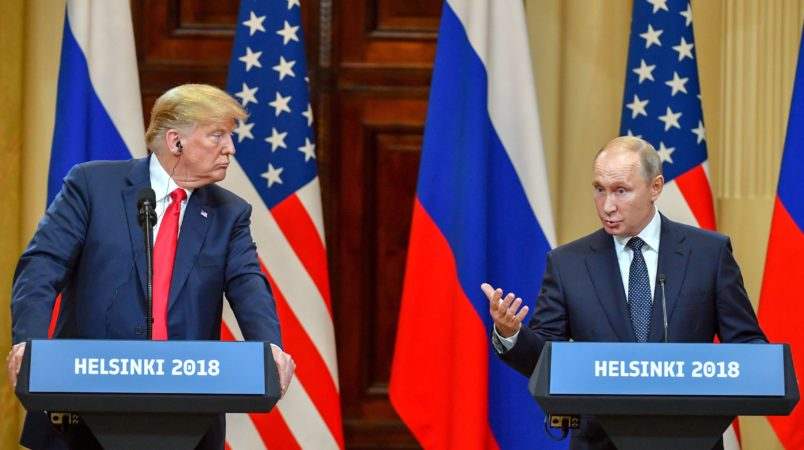 Shock as Trump backs Putin over USA election meddling