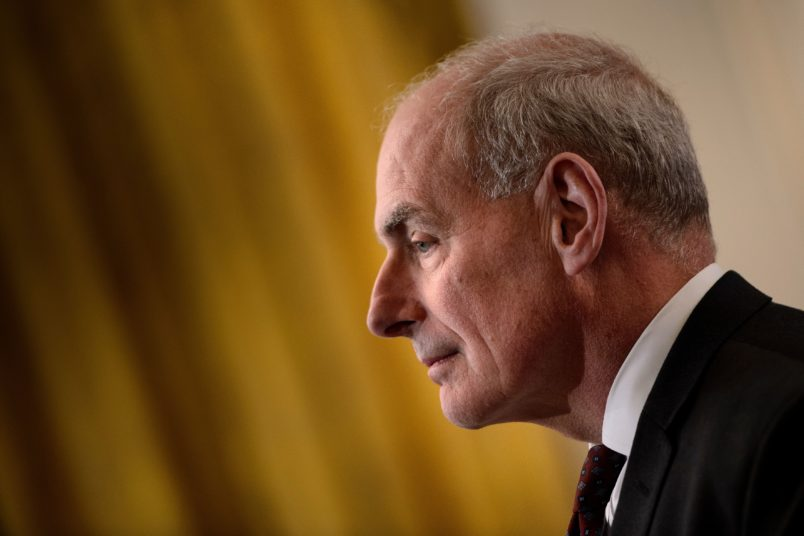 Trump celebrates John Kelly's first full year as chief of staff