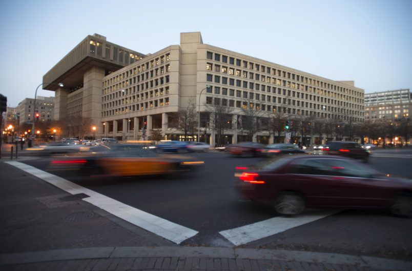 WASHINGTON, DC - DECEMBER 3: The J. Edgar Hoover Building for the FBI in Washington, DC on Dec. 3. The FBI may move to another building. (Photo by Bonnie Jo Mount/The Washington Post)
