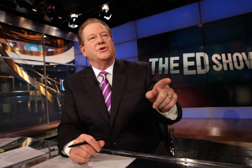 NEW YORK, NEW YORK––NOV. 17, 2011––MSNBC anchor Ed Schultz, is host of The Ed Show. (Carolyn Cole/Los Angeles Times)